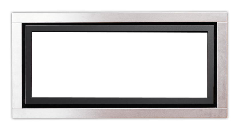 Stainless Steel Fascia with Black Inner Trim For Regency Gas Fires Sold In NZ