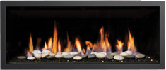 Black Clean Edge Greenfire GF900C NZ Indoor Gas Fireplace