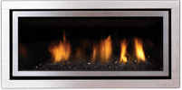 Stainless Steel Fascia Greenfire GF900C NZ Indoor Gas Fireplace