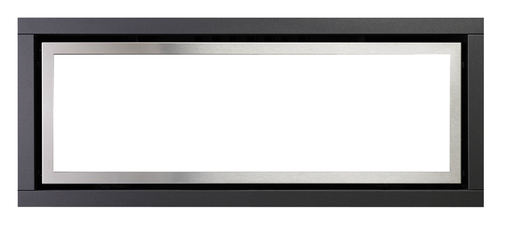 Black with stainless steel inner trim