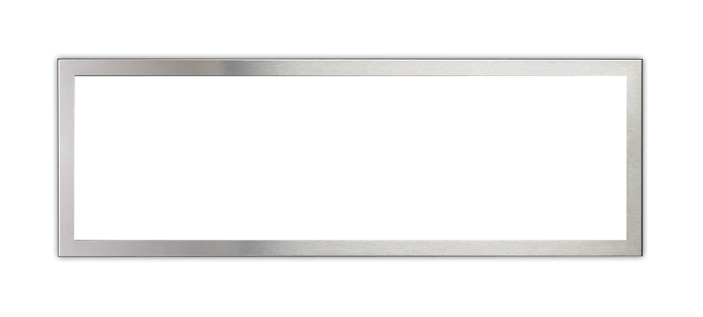 Brushed stainless steel inner trim (for clean edge finish)