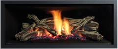 Black Clean Edge Greenfire GF950L NZ Indoor Gas Fireplace